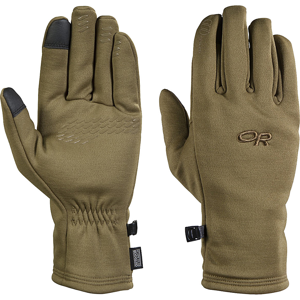 Outdoor Research Mens Backstop Sensor Gloves M - Coyote - Outdoor Research Hats/Gloves/Scarves - Fashion Accessories, Hats/Gloves/Scarves