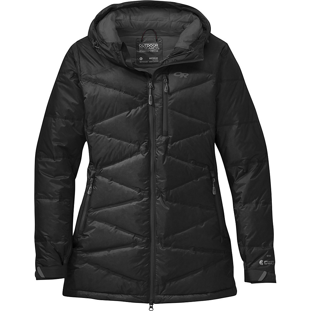 Outdoor Research Womens Floodlight Down Parka S - Black/Charcoal - Outdoor Research Womens Apparel - Apparel & Footwear, Women's Apparel