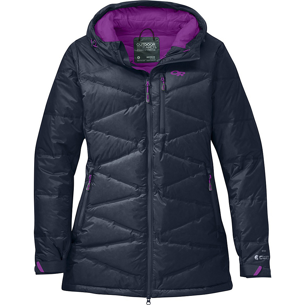 Outdoor Research Womens Floodlight Down Parka L - Night/Ultraviolet - Outdoor Research Womens Apparel - Apparel & Footwear, Women's Apparel