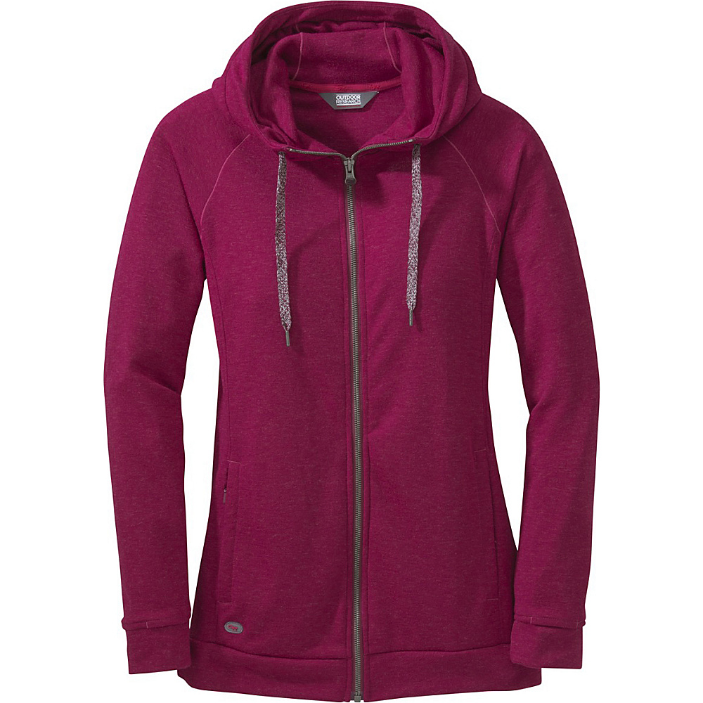 Outdoor Research Womens Ozette Full Zip Hoody L - Raspberry - Outdoor Research Womens Apparel - Apparel & Footwear, Women's Apparel