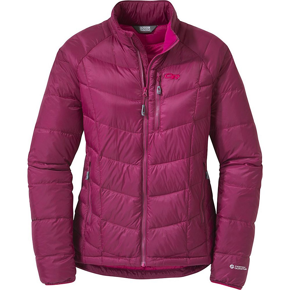 Outdoor Research Womens Sonata Down Jacket S - Raspberry/Desert Sunrise - Outdoor Research Womens Apparel - Apparel & Footwear, Women's Apparel