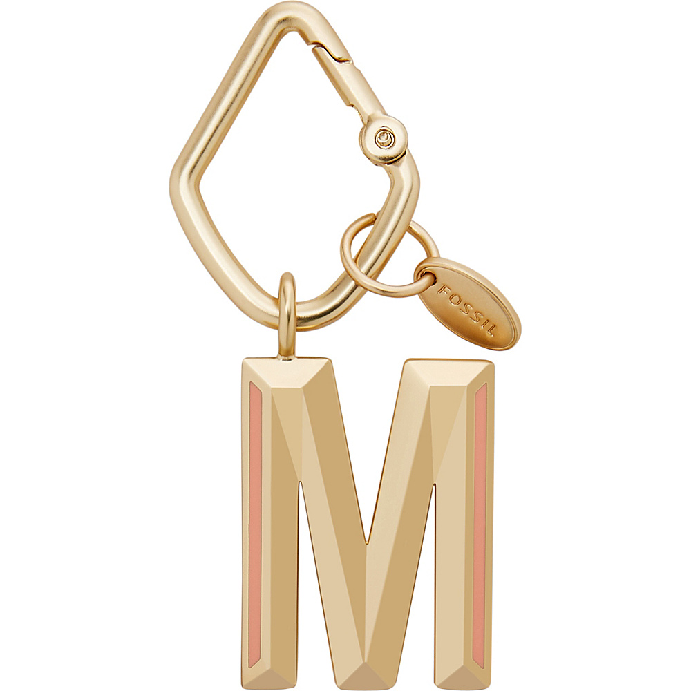 Fossil Letter M Keyfob Gold - Fossil Womens SLG Other - Women's SLG, Women's SLG Other