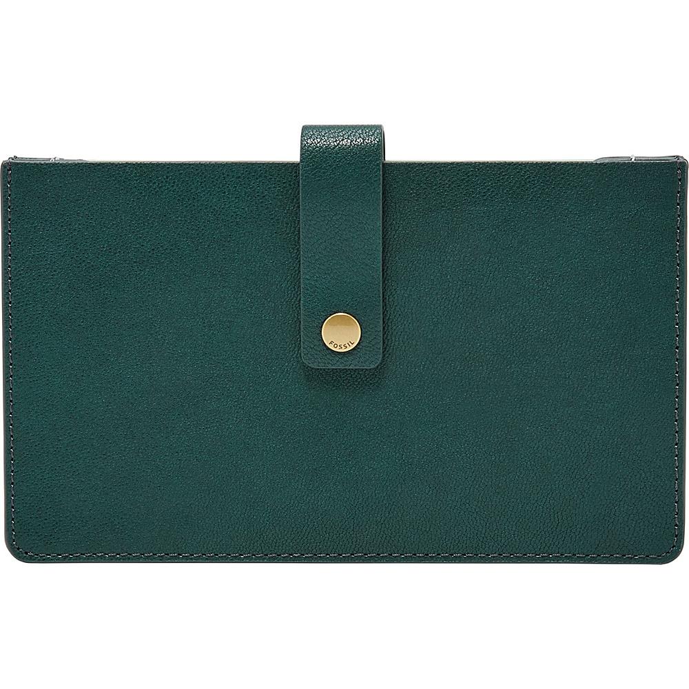 Fossil Vale Medium Tab Wallet Alpine Green - Fossil Womens Wallets - Women's SLG, Women's Wallets