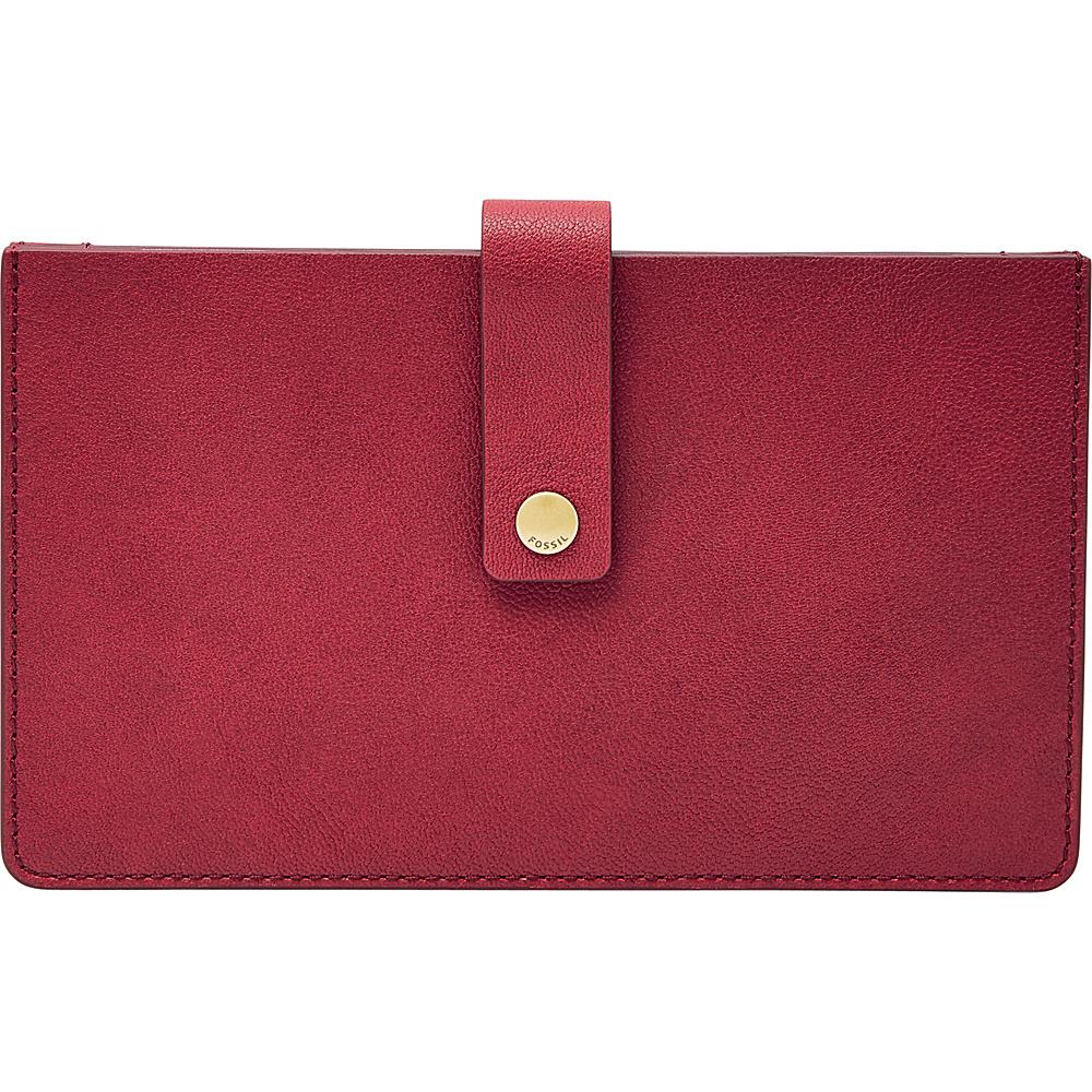 Fossil Vale Medium Tab Wallet Red Velvet - Fossil Womens Wallets - Women's SLG, Women's Wallets