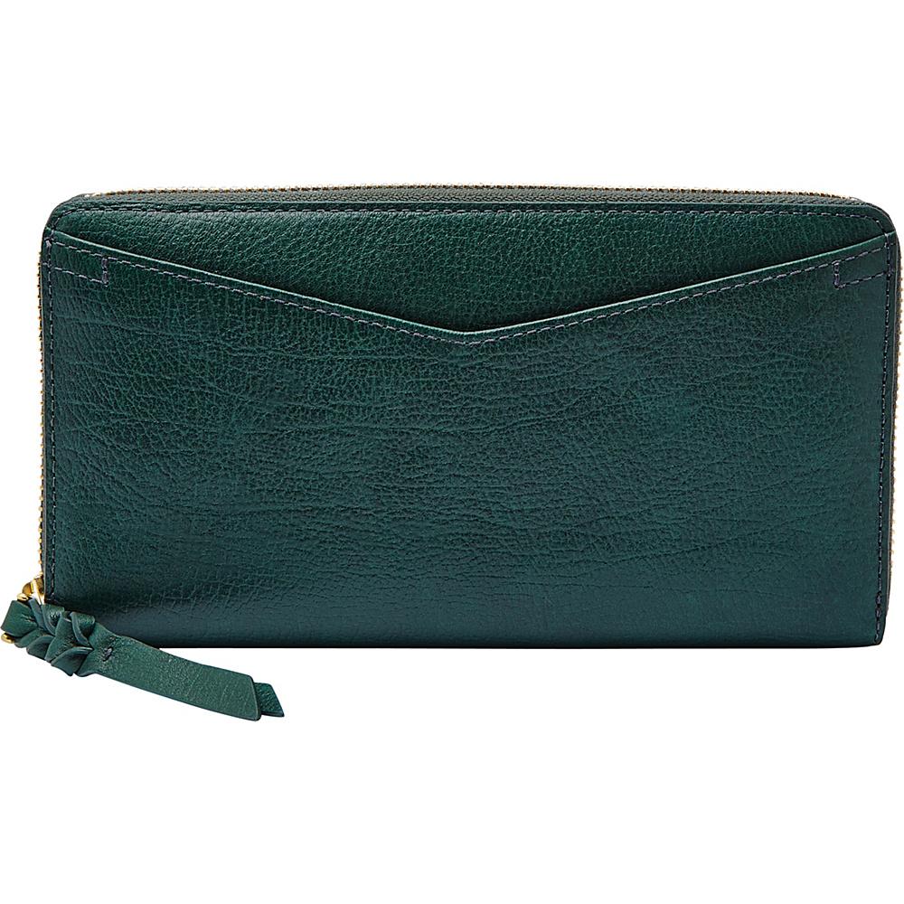 Fossil Caroline RFID Zip Around Wallet Alpine Green - Fossil Womens Wallets - Women's SLG, Women's Wallets