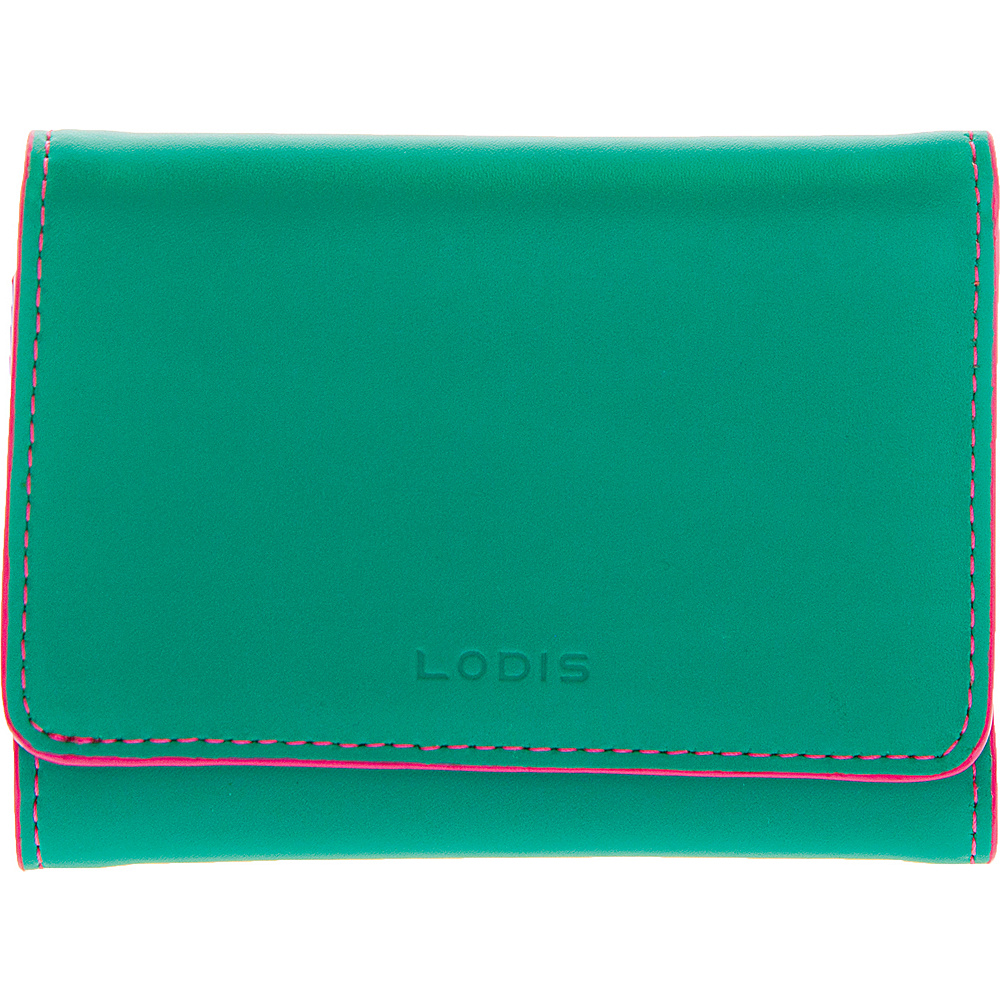 Lodis Audrey Mallory French Wallet - Discontinued Colors Green/Azalea - Lodis Womens SLG Other - Women's SLG, Women's SLG Other