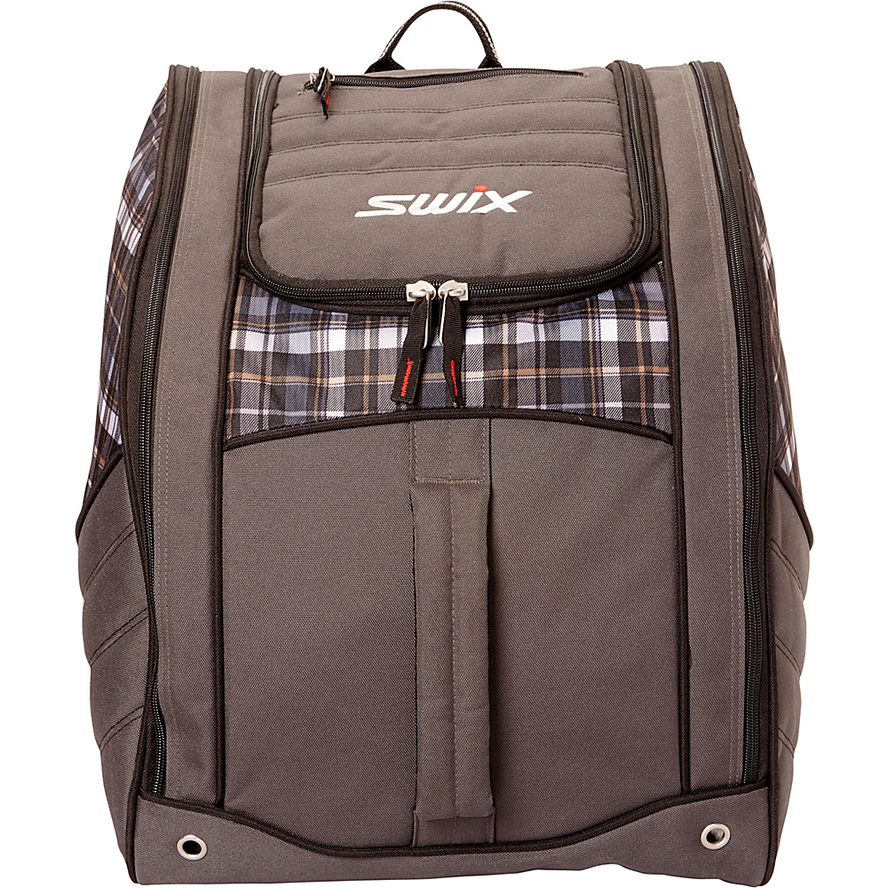 cd086e13fd Swix Lo Pro Alory Boot Bag Alory Grey Plaid - Swix Ski and Snowboard Bags   Lo Pro Alory Boot Bag Alory Grey Plaid. Padded