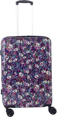 Isaac Mizrahi zzzzz Harley 26 inch 8-Wheel Hardside Spinner Checked Luggage Purple - Isaac Mizrahi zzzzz Hardside Checked