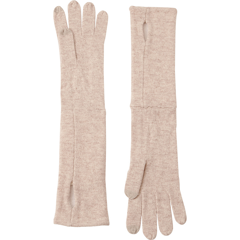 Kinross Cashmere Reversible Glove One Size - Fawn/Ivory - Kinross Cashmere Hats/Gloves/Scarves - Fashion Accessories, Hats/Gloves/Scarves
