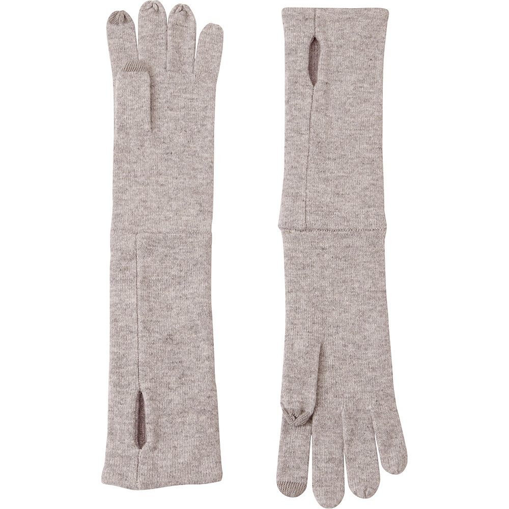 Kinross Cashmere Reversible Glove One Size - Thistle/Sterling - Kinross Cashmere Hats/Gloves/Scarves - Fashion Accessories, Hats/Gloves/Scarves