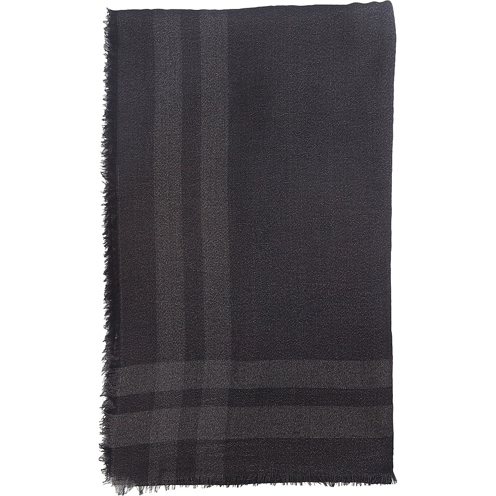 Kinross Cashmere Woven Shawl Black - Kinross Cashmere Hats/Gloves/Scarves - Fashion Accessories, Hats/Gloves/Scarves