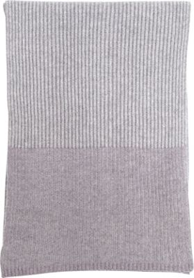 Kinross Cashmere Plaited Rib Scarf Thistle/Sterling - Kinross Cashmere Hats/Gloves/Scarves