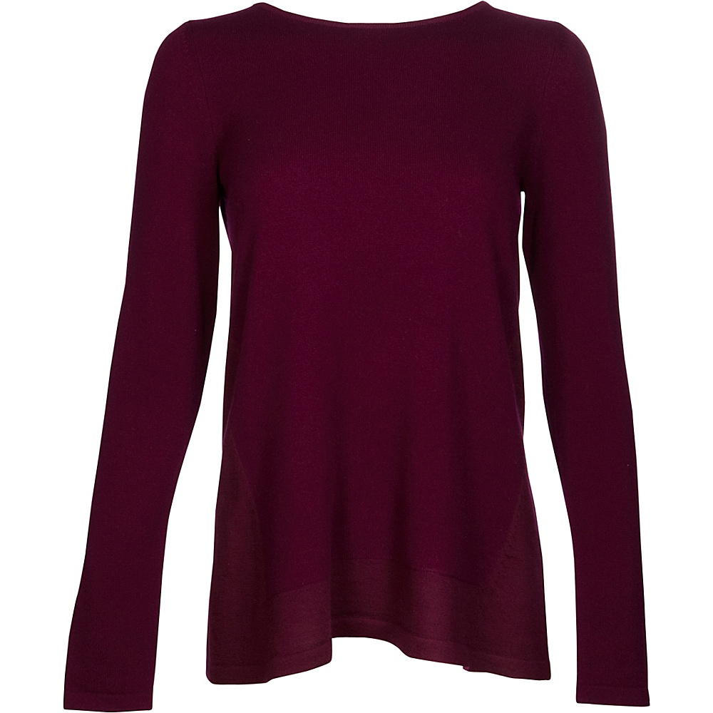 Kinross Cashmere Mixed Yarn Pullover XL - Cassis - Kinross Cashmere Womens Apparel - Apparel & Footwear, Women's Apparel