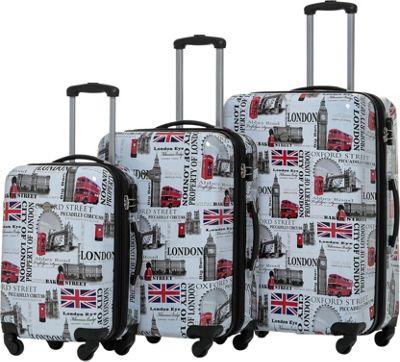 Rivolite City of London 3 Piece Expandable Hardside Luggage Set London - Rivolite Luggage Sets