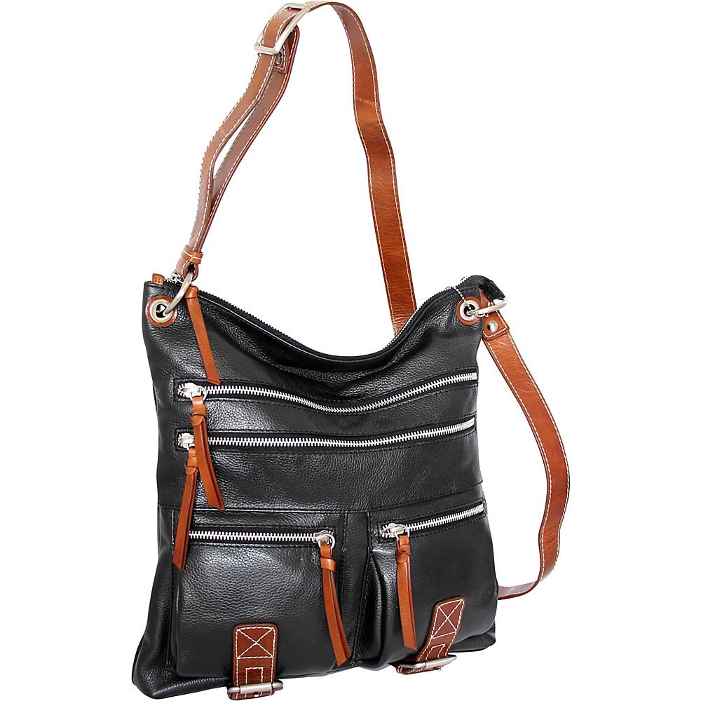 Nino Bossi My My Honey Pie Crossbody Black - Nino Bossi Leather Handbags - Handbags, Leather Handbags