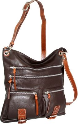 Nino Bossi My My Honey Pie Crossbody Chocolate - Nino Bossi Leather Handbags