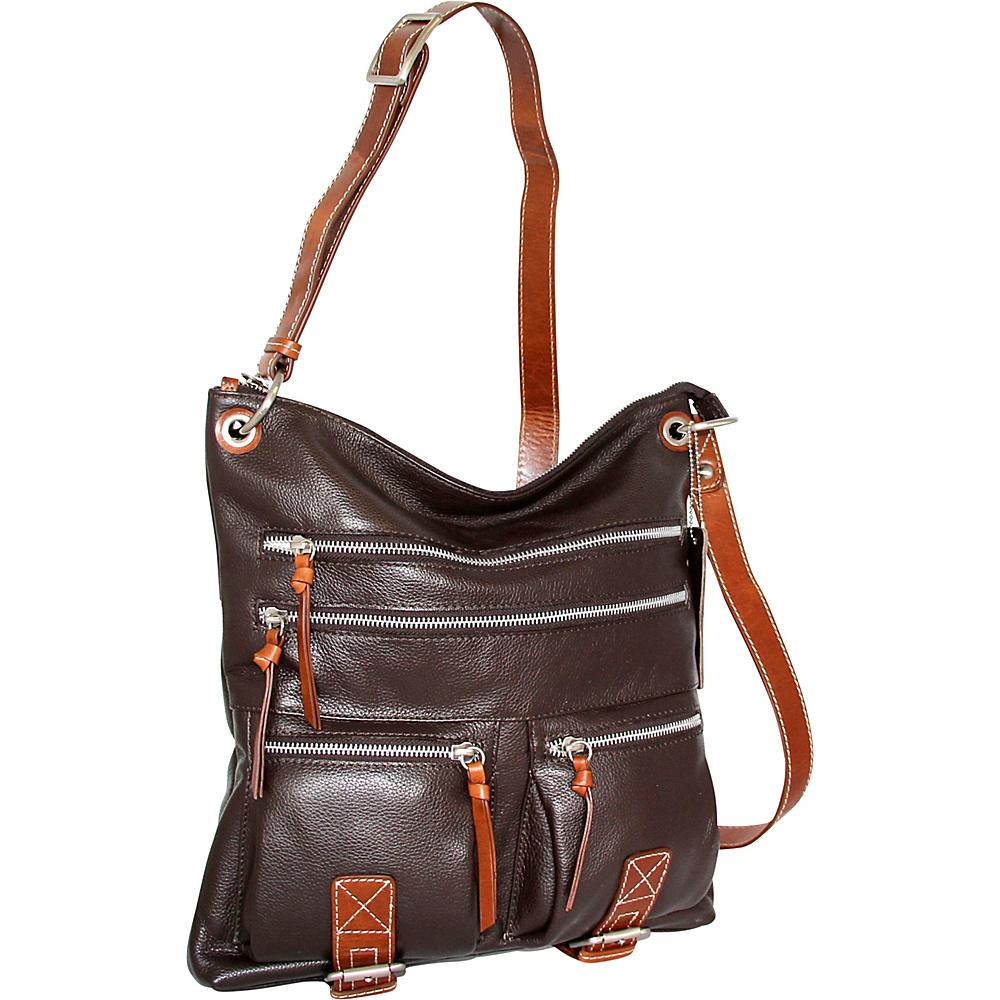 Nino Bossi My My Honey Pie Crossbody Chocolate - Nino Bossi Leather Handbags - Handbags, Leather Handbags