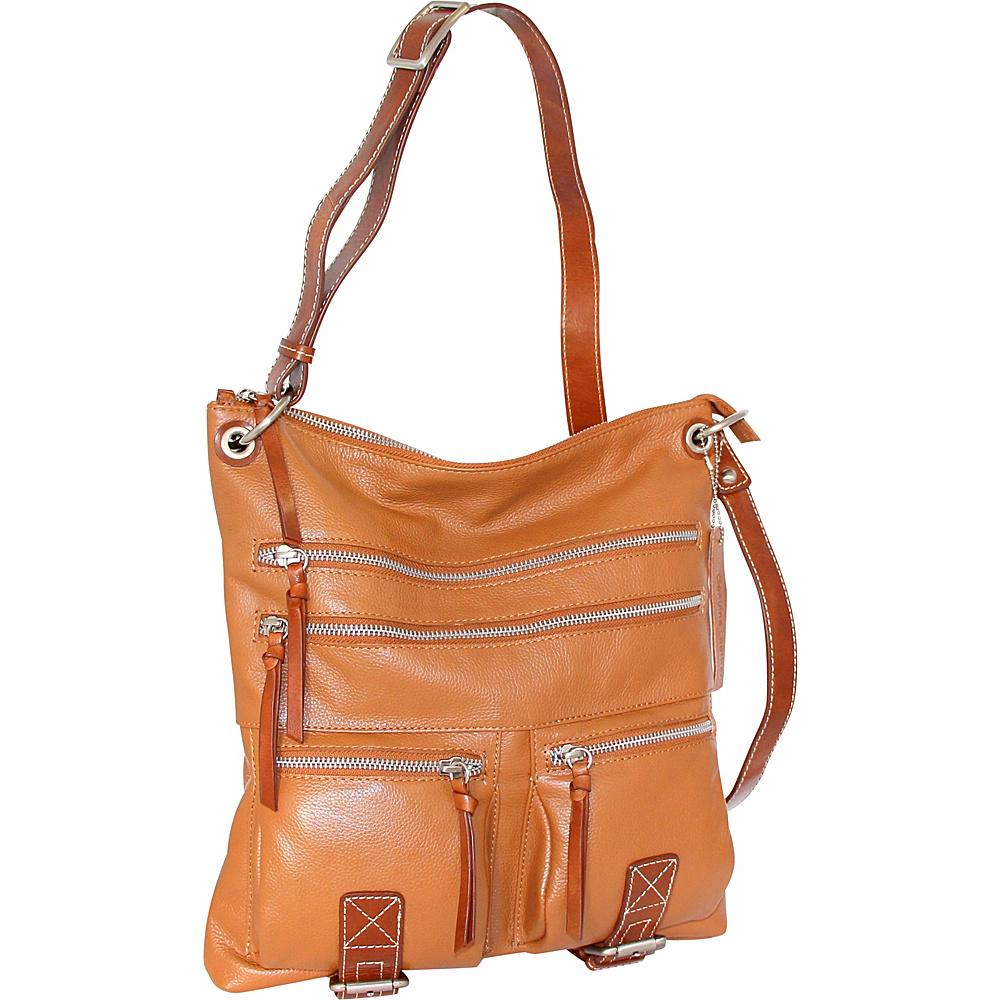 Nino Bossi My My Honey Pie Crossbody Cognac - Nino Bossi Leather Handbags - Handbags, Leather Handbags