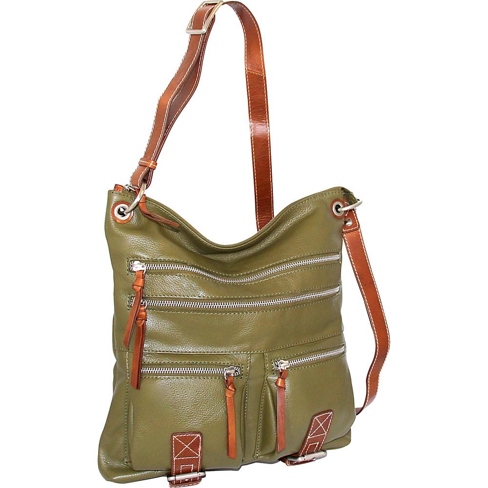 Nino Bossi My My Honey Pie Crossbody Loden - Nino Bossi Leather Handbags - Handbags, Leather Handbags