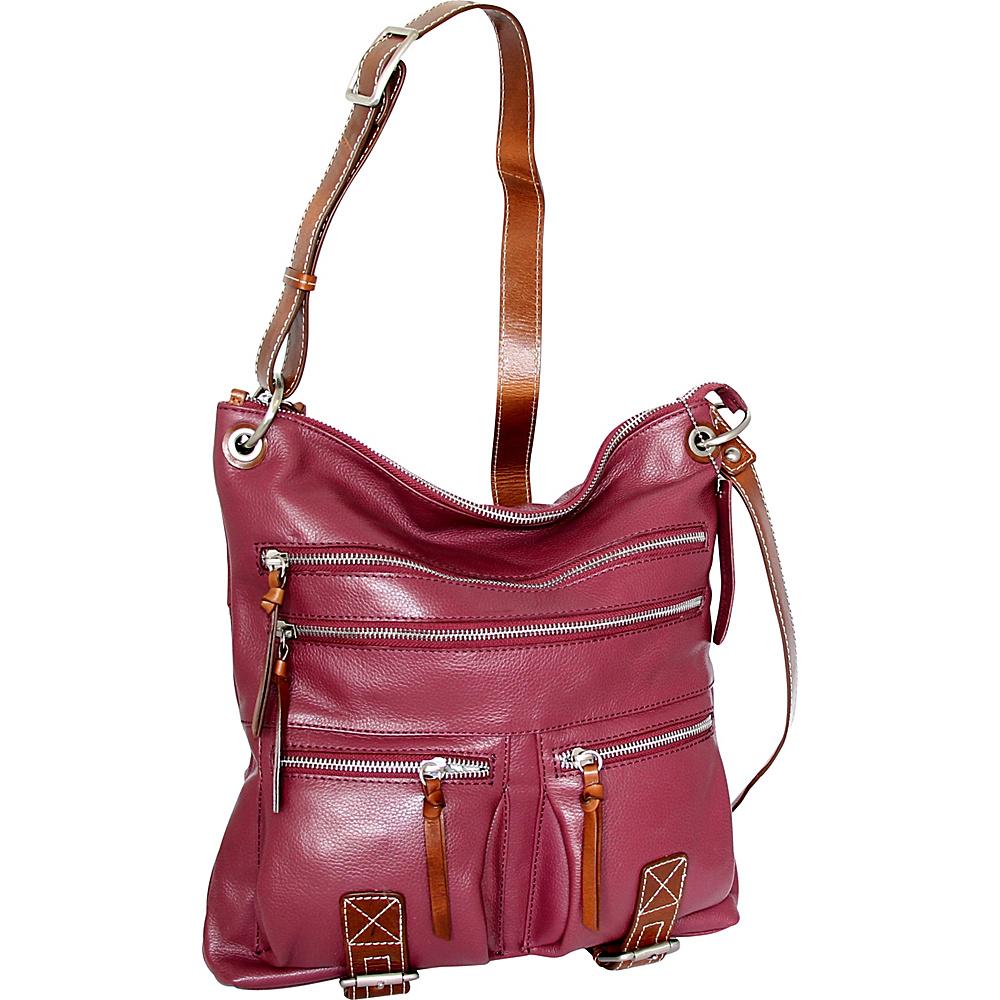 Nino Bossi My My Honey Pie Crossbody Merlot - Nino Bossi Leather Handbags - Handbags, Leather Handbags