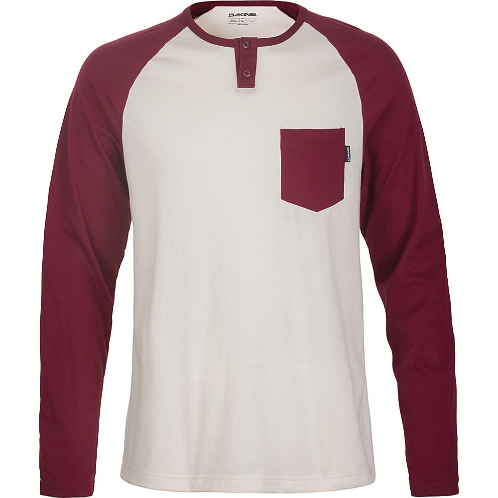 DAKINE Mens Phoenix Long Sleeve Henley Shirt L - Rosewood - DAKINE Mens Apparel - Apparel & Footwear, Men's Apparel