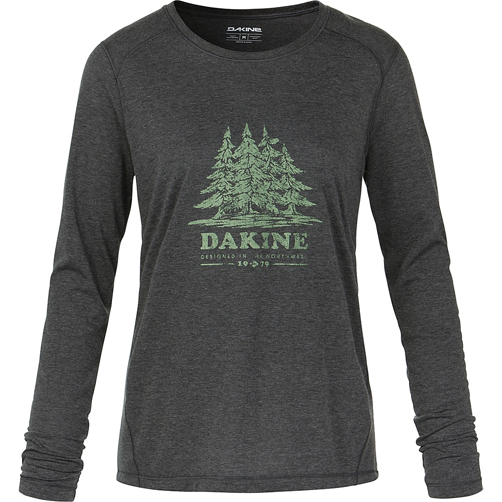 DAKINE Womens Pine Island Long Sleeve Tech T-Shirt S - Heather Black - DAKINE Womens Apparel - Apparel & Footwear, Women's Apparel