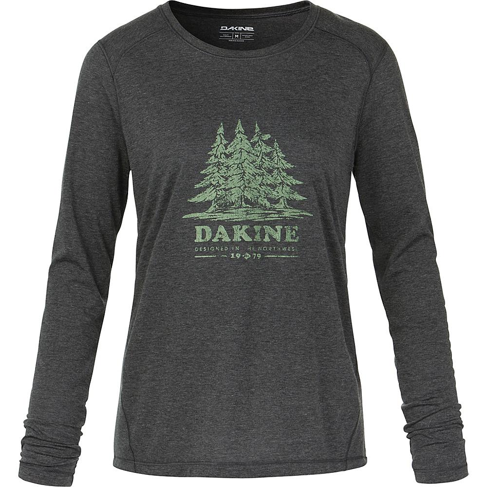 DAKINE Womens Pine Island Long Sleeve Tech T-Shirt XS - Heather Black - DAKINE Womens Apparel - Apparel & Footwear, Women's Apparel