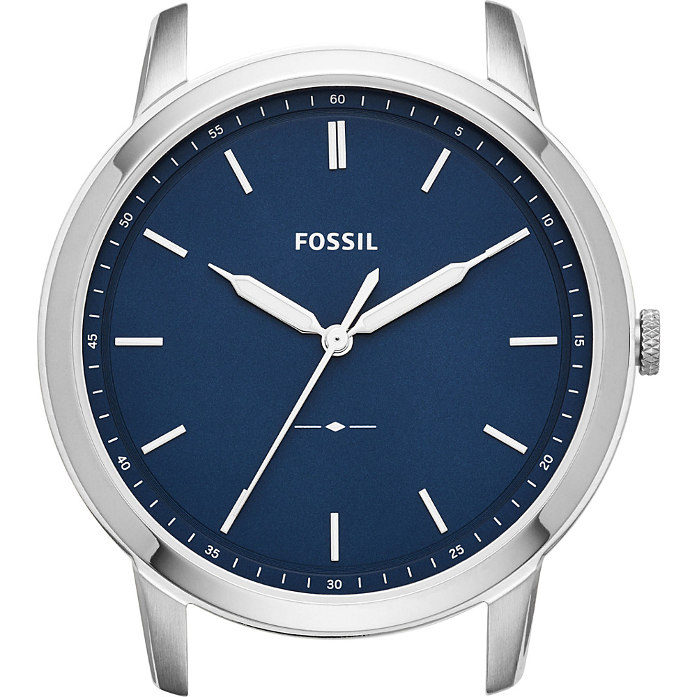 Fossil The Minimalist Slim Three-Hand Blue Watch Case Silver - Fossil Watches - Fashion Accessories, Watches