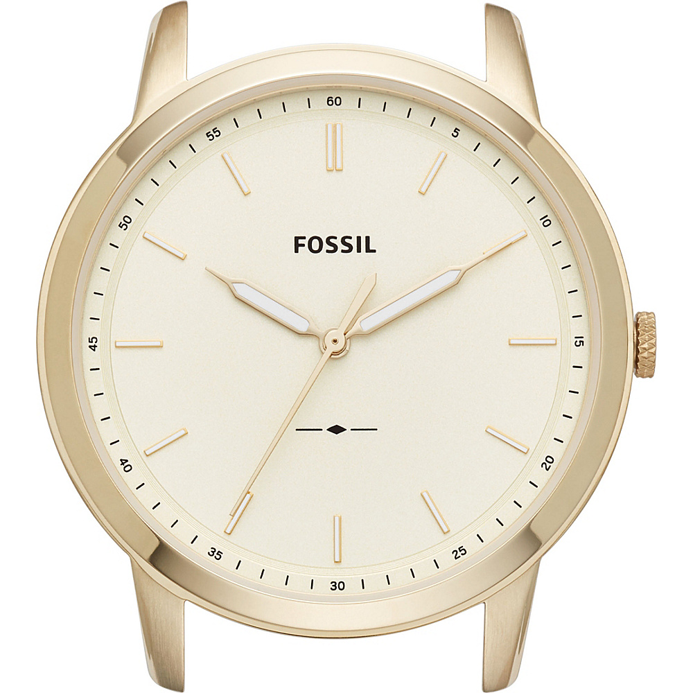 Fossil The Minimalist Slim Three-Hand Cream Watch Case Gold - Fossil Watches - Fashion Accessories, Watches