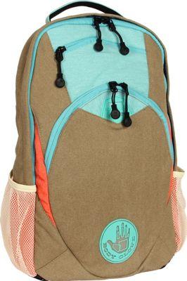 BODY GLOVE Long Lat Fenley Laptop Backpack Khaki - BODY GLOVE Long Lat Business & Laptop Backpacks