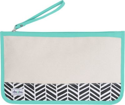 Ame & Lulu Stay Dry Swimsuit Bag Natural Black Shutters - Ame & Lulu Packable Bags