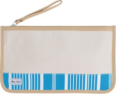 Ame & Lulu Stay Dry Swimsuit Bag Natural Ticking Stripe - Ame & Lulu Packable Bags