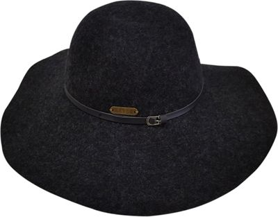 Hatch Hats Society Packable Wide Brim Floppy Hat One Size - Charcoal - Hatch Hats Hats/Gloves/Scarves