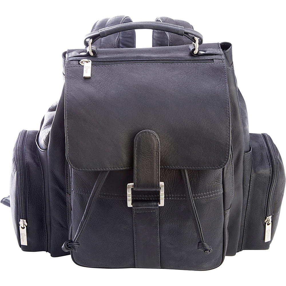 Royce Leather Colombian Leather Expandable Backpack Black - Royce Leather Leather Handbags - Handbags, Leather Handbags