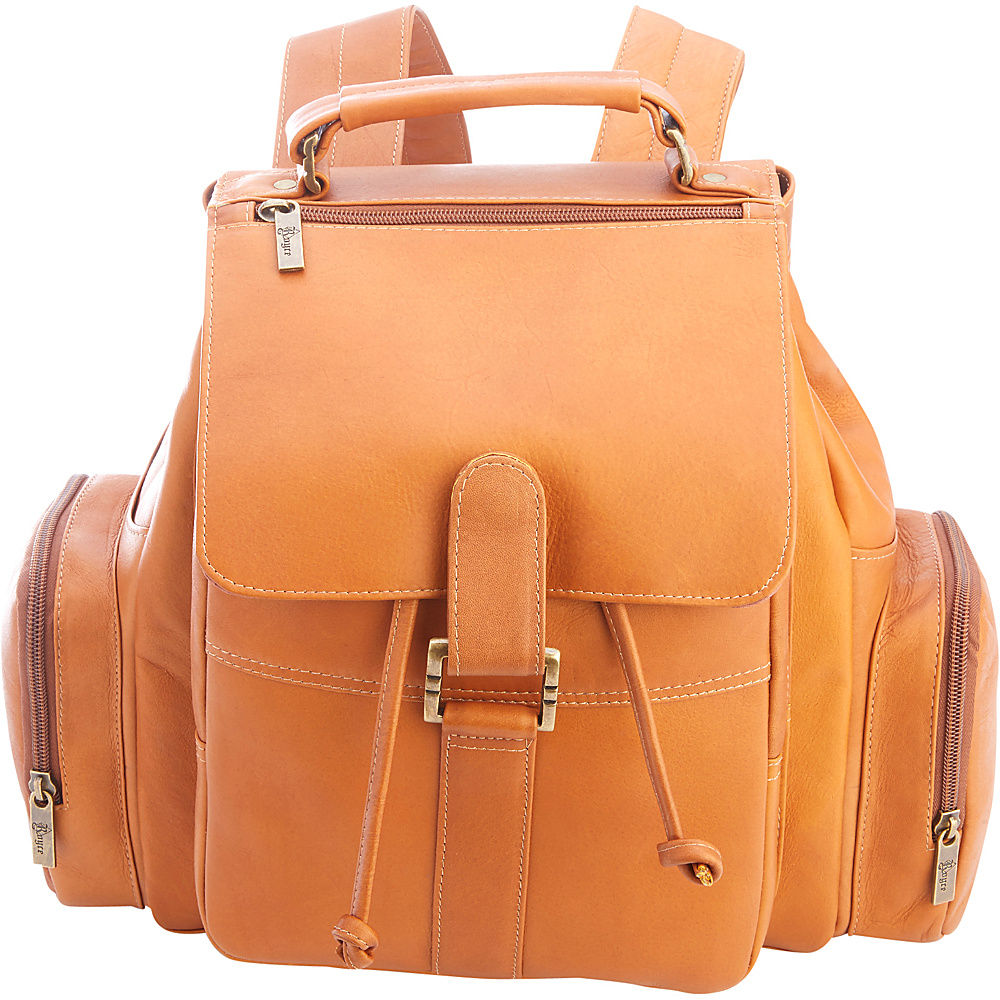 Royce Leather Colombian Leather Expandable Backpack Tan - Royce Leather Leather Handbags - Handbags, Leather Handbags