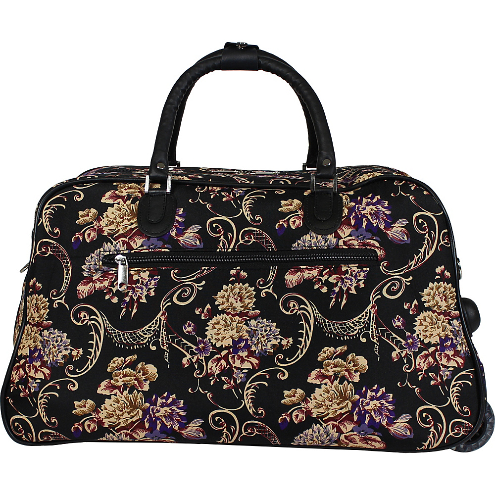 World Traveler Classic Floral 21 Carry-On Rolling Duffel Bag Classic Floral - World Traveler Travel Duffels - Duffels, Travel Duffels