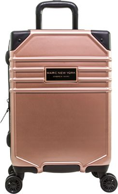 Marc New York Classic 21 inch Hardside Carry-On Spinner Luggage Rose Gold - Marc New York Hardside Carry-On
