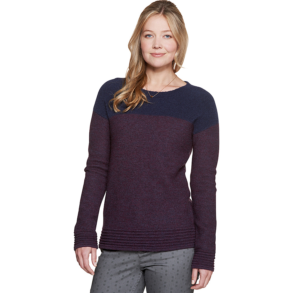 Toad & Co Kaya Crew Sweater M - Nightshade - Toad & Co Womens Apparel - Apparel & Footwear, Women's Apparel