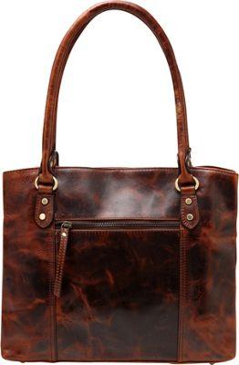 Vicenzo Leather Elosie Vintage Leather Handbag Chestnut - Vicenzo Leather Leather Handbags