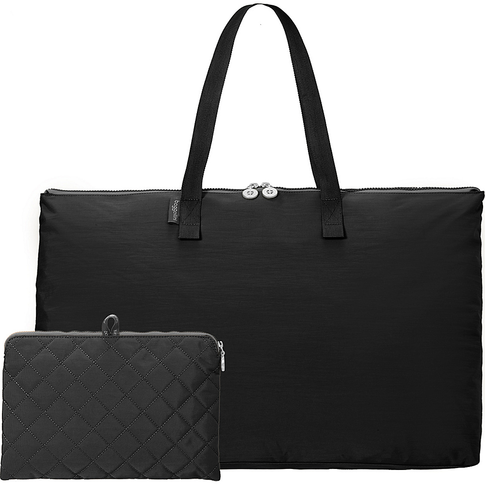 baggallini Foldable Travel Tote Black/Charcoal - baggallini Packable Bags - Travel Accessories, Packable Bags