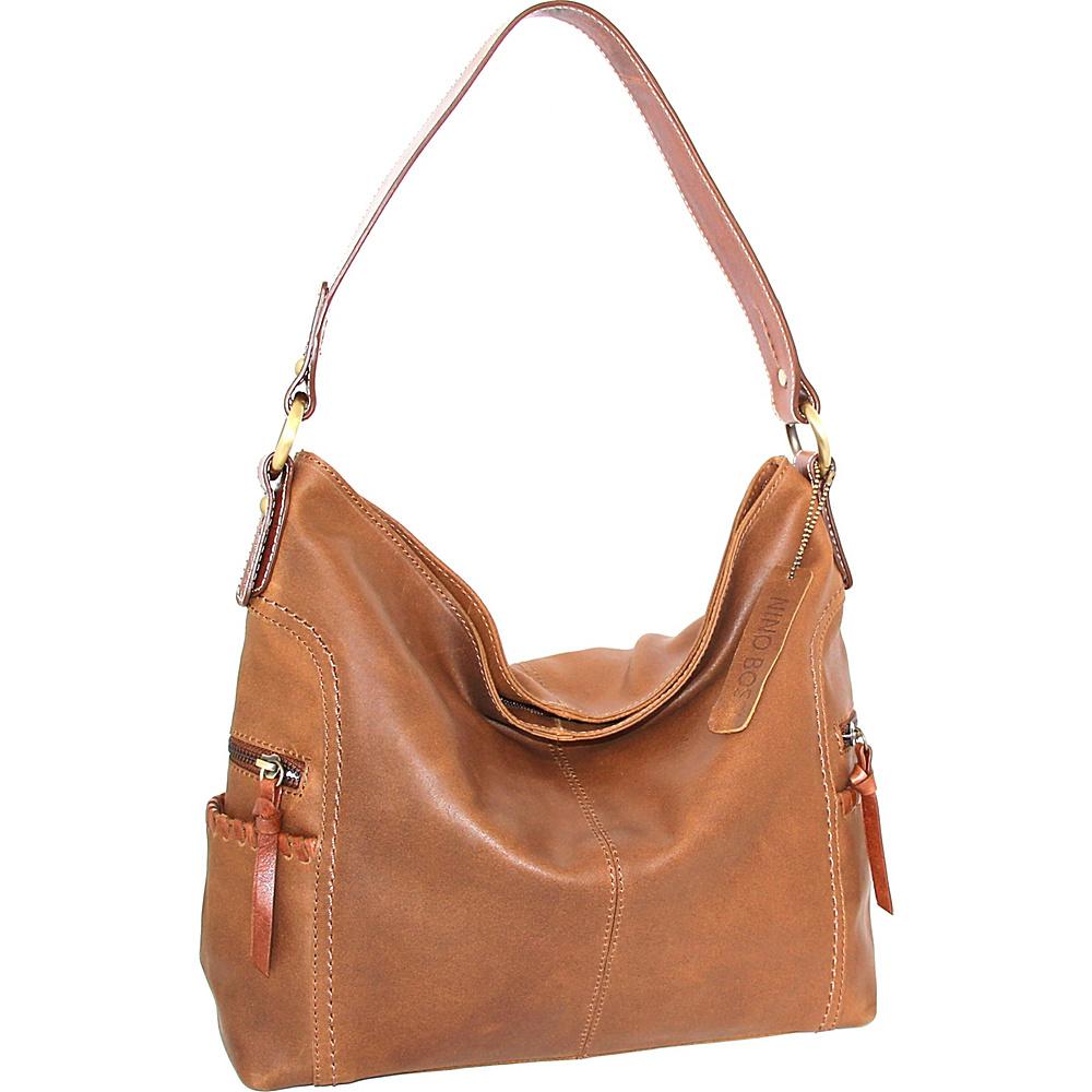 Nino Bossi Flora Hobo Saddle - Nino Bossi Leather Handbags - Handbags, Leather Handbags