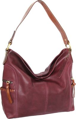 Nino Bossi Flora Hobo Plum - Nino Bossi Leather Handbags