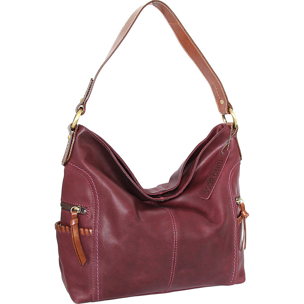 Nino Bossi Flora Hobo Plum - Nino Bossi Leather Handbags - Handbags, Leather Handbags