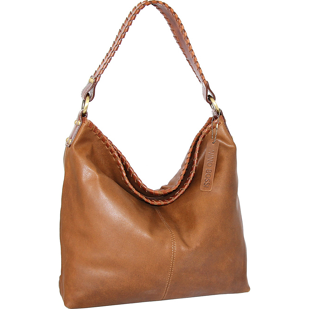 Nino Bossi Izzie Bucket Bag Saddle - Nino Bossi Leather Handbags - Handbags, Leather Handbags