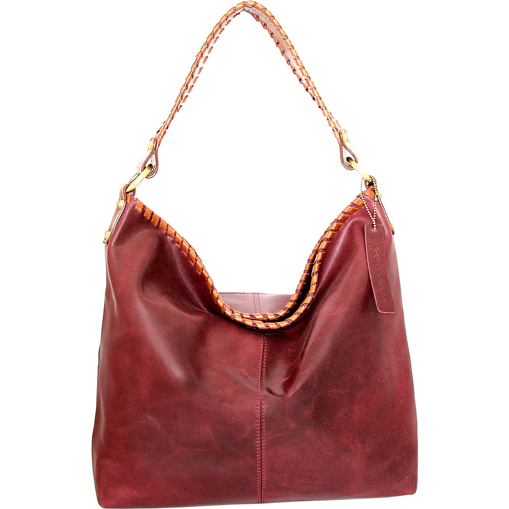 Nino Bossi Izzie Bucket Bag Plum - Nino Bossi Leather Handbags - Handbags, Leather Handbags