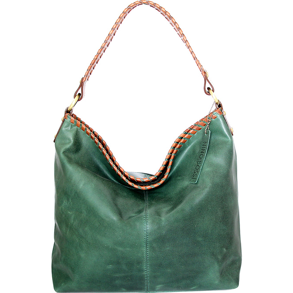 Nino Bossi Izzie Bucket Bag Moss - Nino Bossi Leather Handbags - Handbags, Leather Handbags