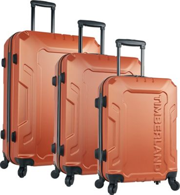 Timberland Boscawen 3 Piece Hardside Spinner Luggage Set Burnt Orange - Timberland Luggage Sets