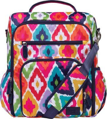 Trend Lab French Bull Convertible Backpack Diaper Bag Kat Multi - Trend Lab Diaper Bags & Accessories