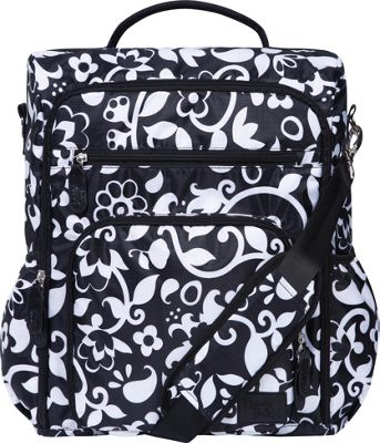 Trend Lab French Bull Convertible Backpack Diaper Bag Vine Black and White - Trend Lab Diaper Bags & Accessories