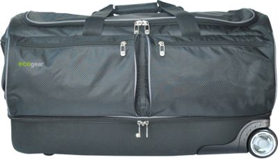 ecogear 28 inch Wheeled Duffel with Garment Rack Black - ecogear Travel Duffels